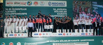 Turkey tops the medal table of European Karate Championships for Regions